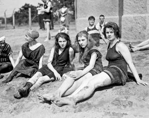 Bathing beach, 1920s