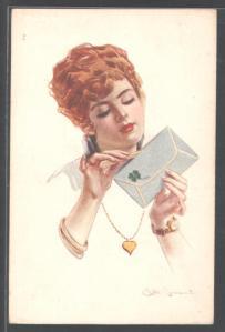 Simonetti_-_Rothaarige_Frau_öffnet_gespannt_den_Liebesbrief