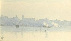 J. W. R. Linton, Perth from South Perth, c.1900