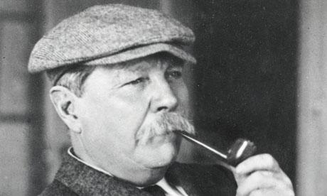 Conan Doyle pretending to be Sherlock Holmes