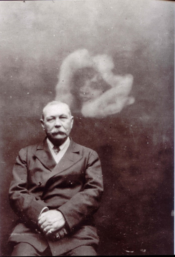 Arthur Conan Doyle and friend